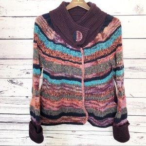 Leifsdottir anthropologie wool blend cardigan